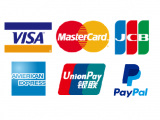 You can pay by American Express credit card, China UnionPay and PayPal now.